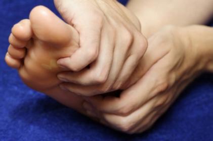 Auto masaje en los pies