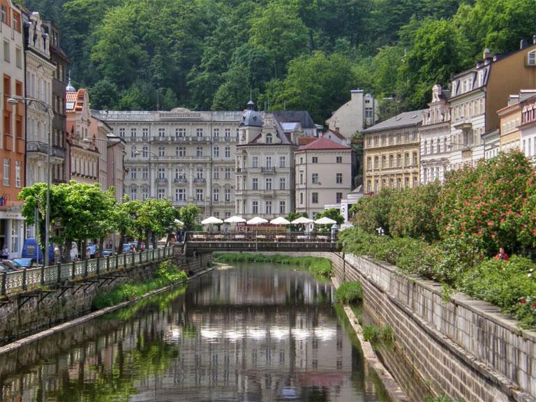 SPA Curativo en Karlovy Vary (Carlsbad), la ciudad más reconocida en la República Checa